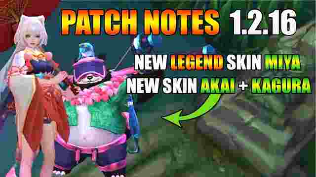 Update Terbaru Mobile Legend Patch Notes 1.2.16