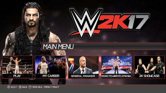 WWE 2K17 PC Game Free Download Full Version For Windows XP
