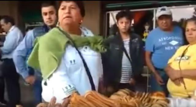 #LadyChurros: inspectores querían decomisarle su puesto