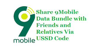 How to share 9mobile data bundle with friends and relatives