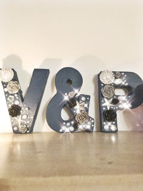 A how to guide to making decorative letters for your home
