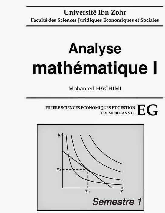 Cours Analyse Math U00e9matique S1 Economie Et Gestion