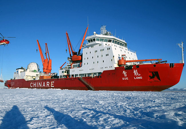 Penelitian China launches Xuelong 2, first homemade polar icebreaker