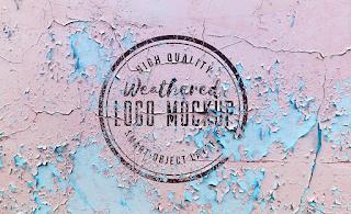 Weathered Logo Mockup