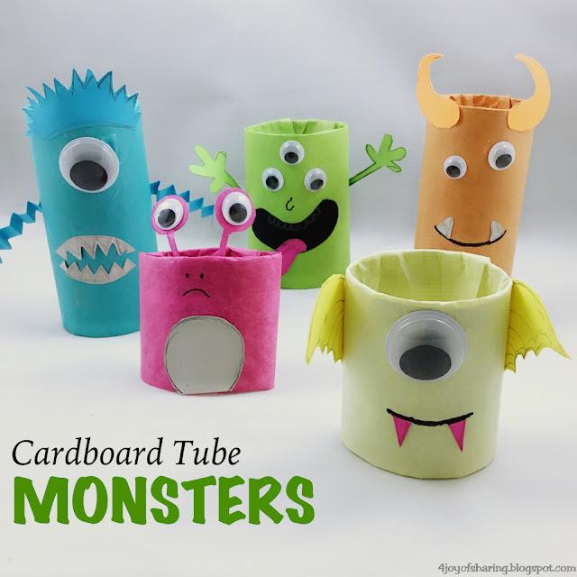 halloween craft, kids craft, easy craft, toilet paper roll craft, monsters, kids activities, preschool craft, kindergarten craft, toddler craft, toddler fun