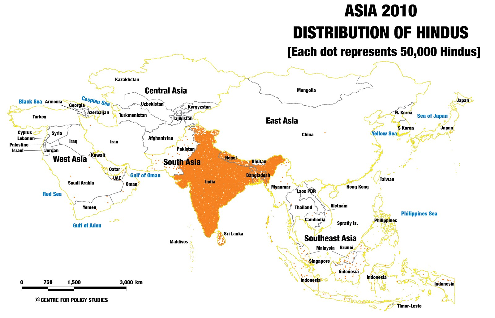 Religion Map Of South Asia.Centre For Policy Studies Religion Data Of Census 2011 Xlv Asia Maps 2