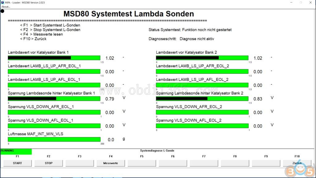 How to Diagnose BMW MSD80 DME with INPA software-OBD365 com