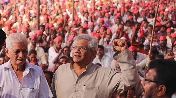 National, Kisan March, Sitaram Yechuri