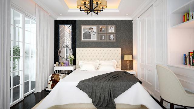 Thiết kế phòng ngủ căn hộ Sunshine Riverside.