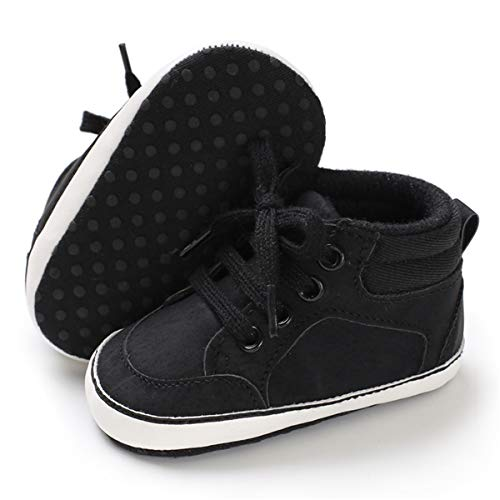 3335cc90d1f0 BENHERO Baby Girls Boys Canvas Shoes Toddler Infant First Walker Soft Sole  High-Top Ankle Sneakers Newborn Crib Shoes (6-12 Months M US Infant)