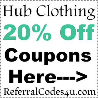Hub Clothing Coupon 20% off 2017, HubClothing Promo Codes January, February, March, April, May, June 2017