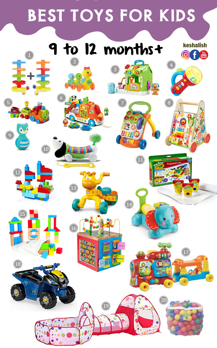Toys For 10 : Keshalish toys for kids months to year old and up