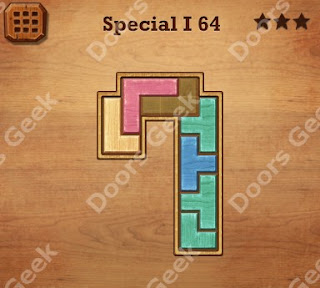 Cheats, Solutions, Walkthrough for Wood Block Puzzle Special I Level 64