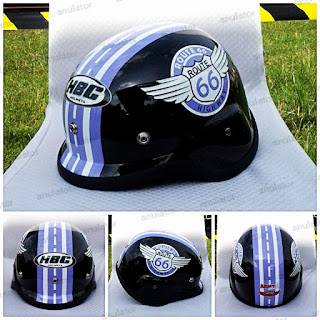 Helm Hbc Rusian Army Route 66/Japstyle/Bogo/Cafe Racer/Cakil