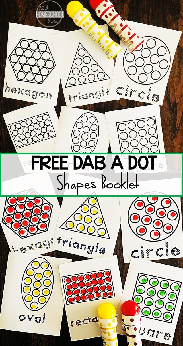 Free Do A Dot Shapes Worksheets