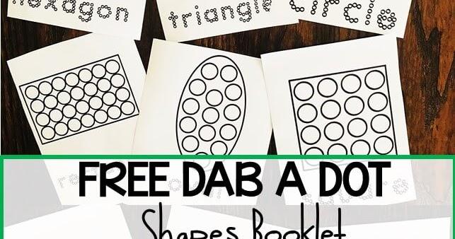 FREE Do A Dot Shapes Worksheets