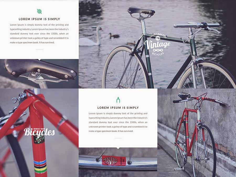 Bicycle – Free OnePage PSD Template