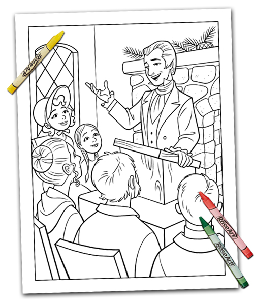 First Vision Coloring Page   594x500