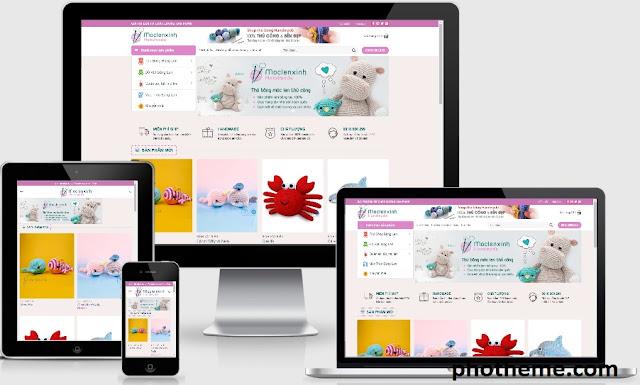 Theme wordpress bán hàng Handmade siêu cute