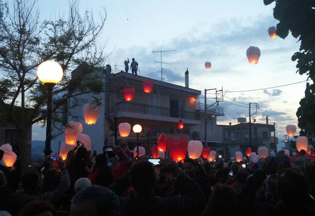 Πάσχα στη Βόρεια Εύβοια: Το εντυπωσιακό έθιμο με τα αερόστατα στον Άγιο Αιδηψού (ΦΩΤΟ & ΒΙΝΤΕΟ)