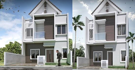 Desain rumah minimalis dua lantai luas bangunan 80 m2