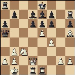 Partida de ajedrez Francisco José Pérez - Arturo Pomar, posición después de 17.e5!