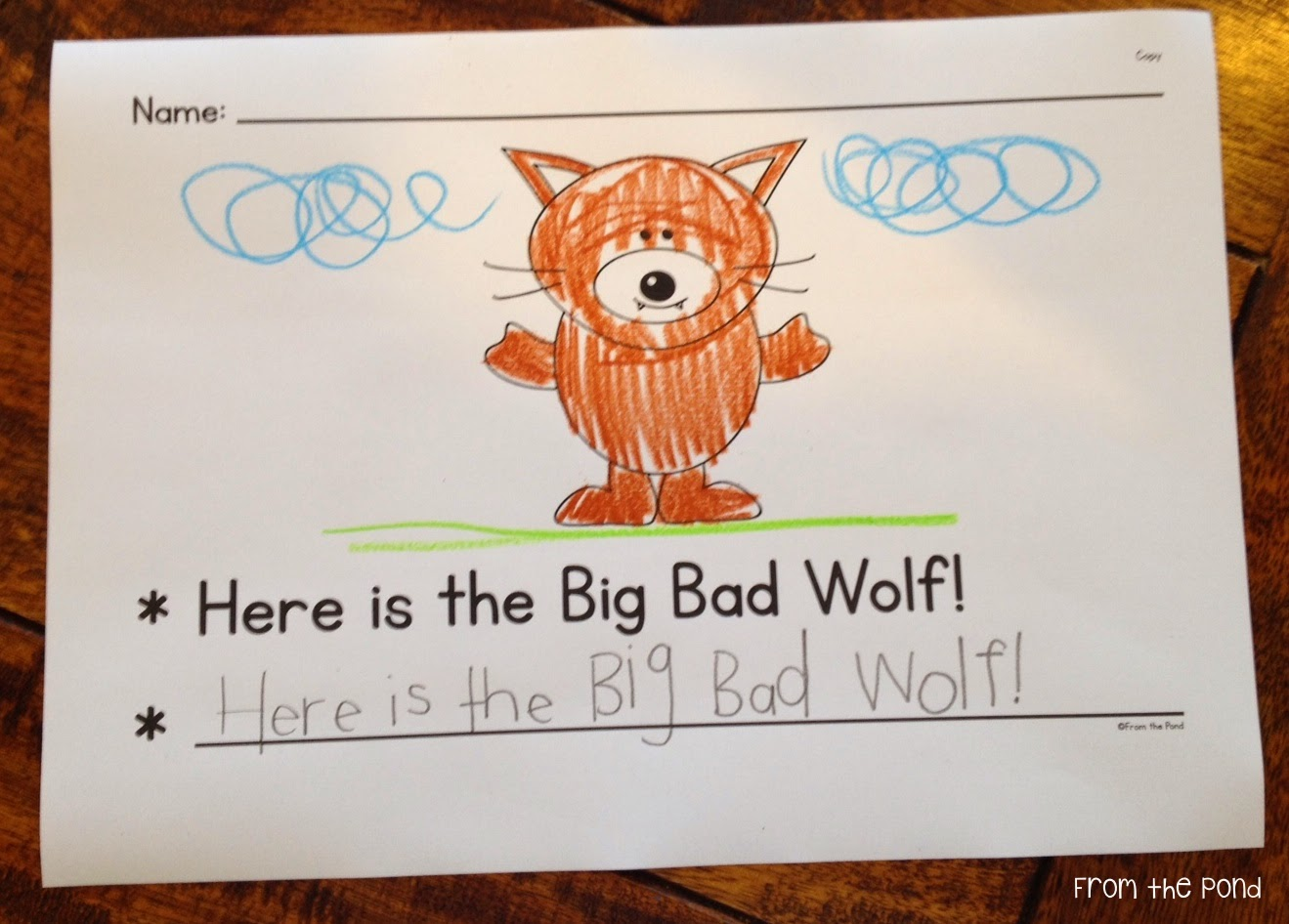 Free Big Bad Wolf Writing Pages