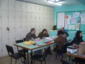 Sala dos professores.