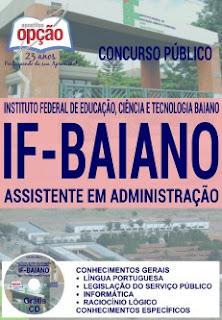 Apostila Concurso do IFBaiano 2016 para Assistente em Administração