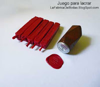 venta fabricantes de Kit para lacrar en guatemala con sello de metal con monograma-inicailes y cera lacre en barra color rojo