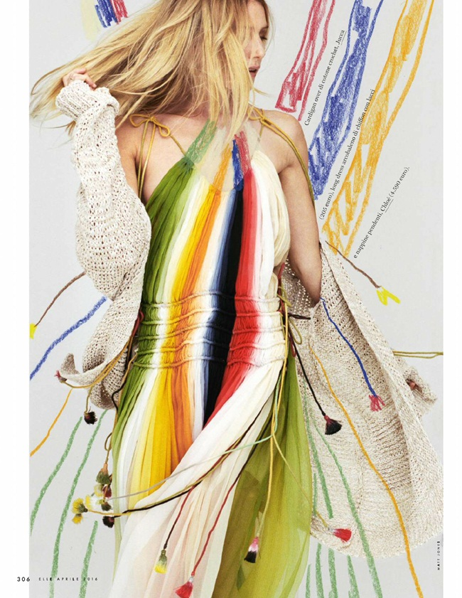 2016 SS Chloé Rainbow Dress Editorials