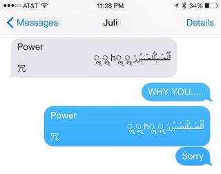 iPhone bị khởi động lại mỗi khi nhận được tin nhắn có chứa chuỗi ký tự Ả-rập
