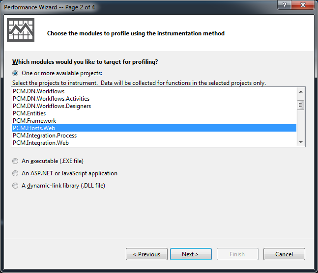 Performance Profiler in Visual Studio 2012 | Sylvester's