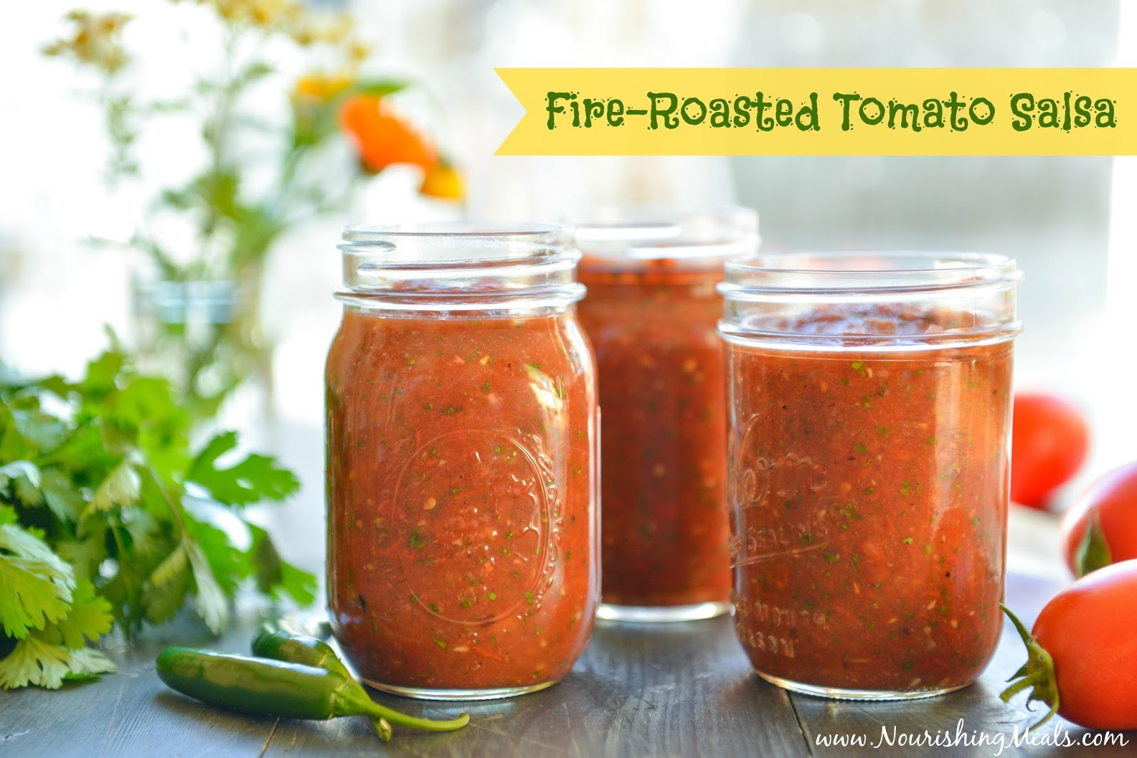 Nourishing Meals®: Fire-Roasted Tomato Salsa Recipe