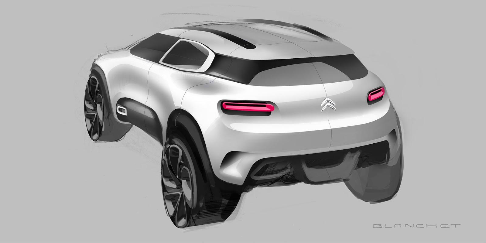 Citroen Aircross concept 2015 sketch by Gregory Blanchet