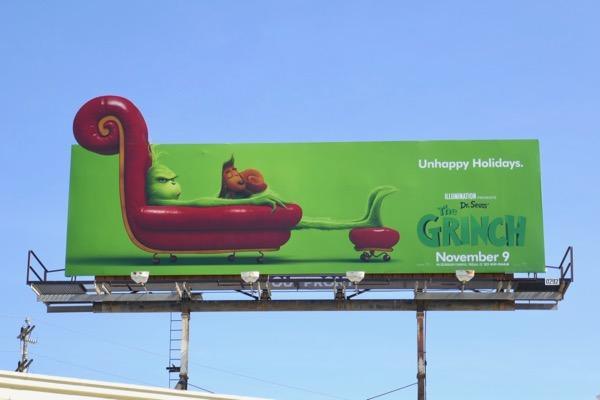 Unhappy Holidays Grinch billboard