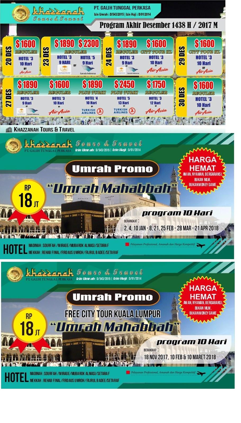 Paket Hajj Plus 2018 Khazzanah Tour