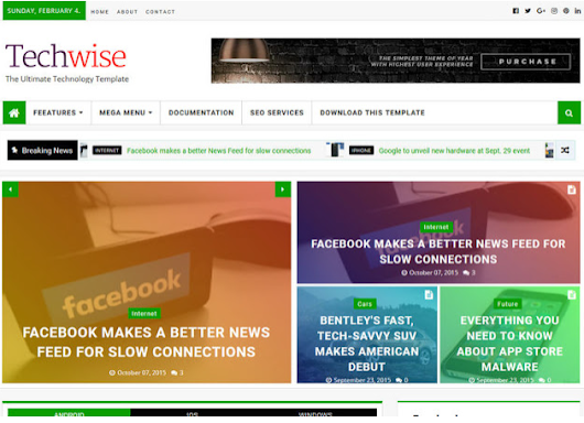 TechWise Blogger Template Download