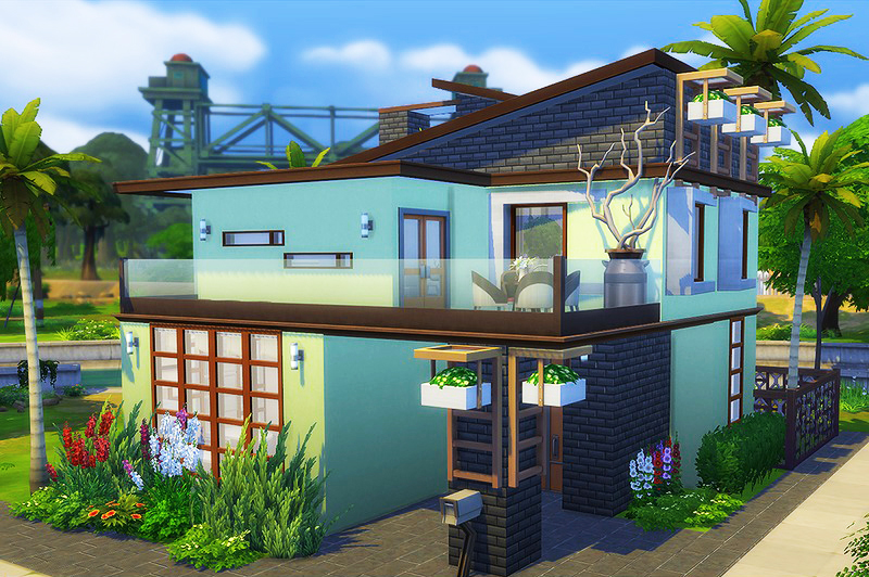 contemporary loft bachman - Sims 4 Home Design