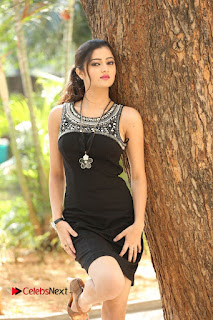 Actress Poojitha Pallavi Naidu Stills in Black Short Dress at Inkenti Nuvve Cheppu Movie Platinum Disc Function  0148.JPG