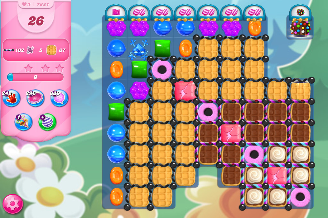 Candy Crush Saga level 7821