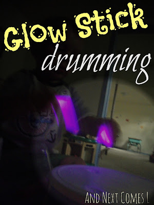 Glow stick drumming from And Next Comes L