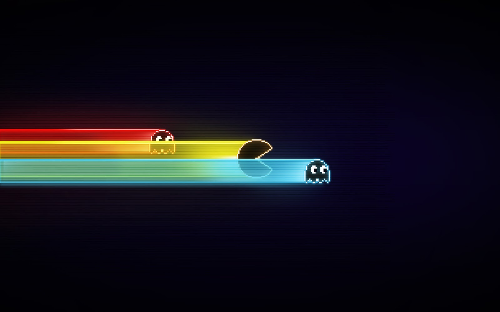 Nice and simple colourful pacman desktop wallpaper for Retro design definition