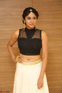 Roshni Prakash in a Sleeveless Crop Top and Long Cream Ethnic Skirt 108.JPG