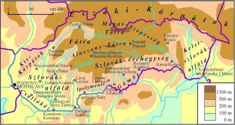 szlovákia domborzati térkép Online térképek: Szlovákia domborzata szlovákia domborzati térkép