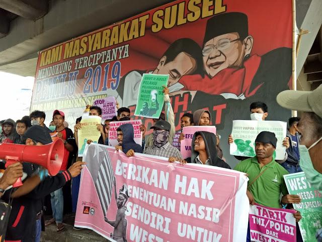 Aksi Massa FRI untuk Papua di Flyover Dibubarkan Ormas