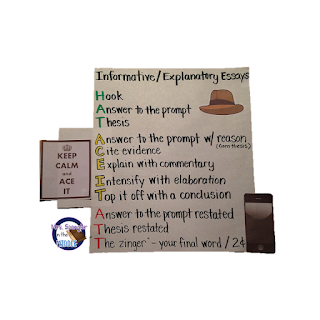 Informative Essay Anchor Chart with an easy to remember mnemonic for organization!
