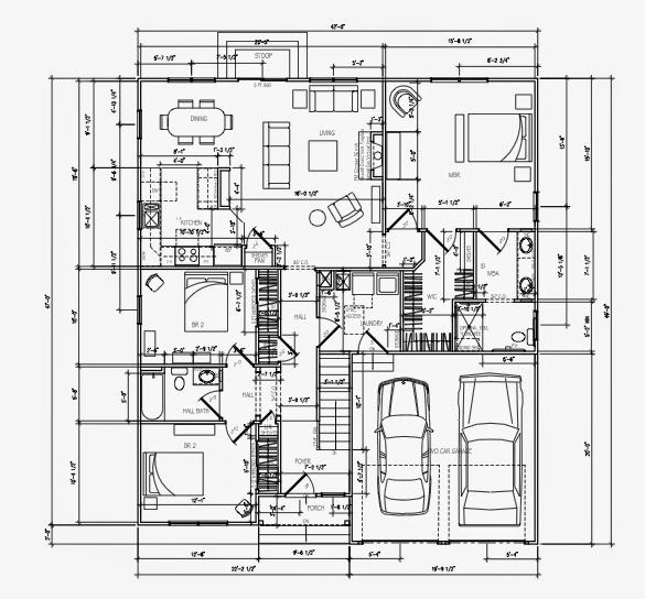 Wheelchair Accessible Multigenerational House Plan: 3-Bedroom Wheelchair Accessible House Plans