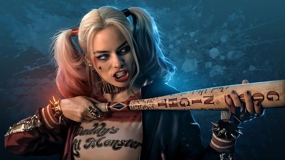 Harley Quinn, Baseball Bat, DC, 4K, #4.2294