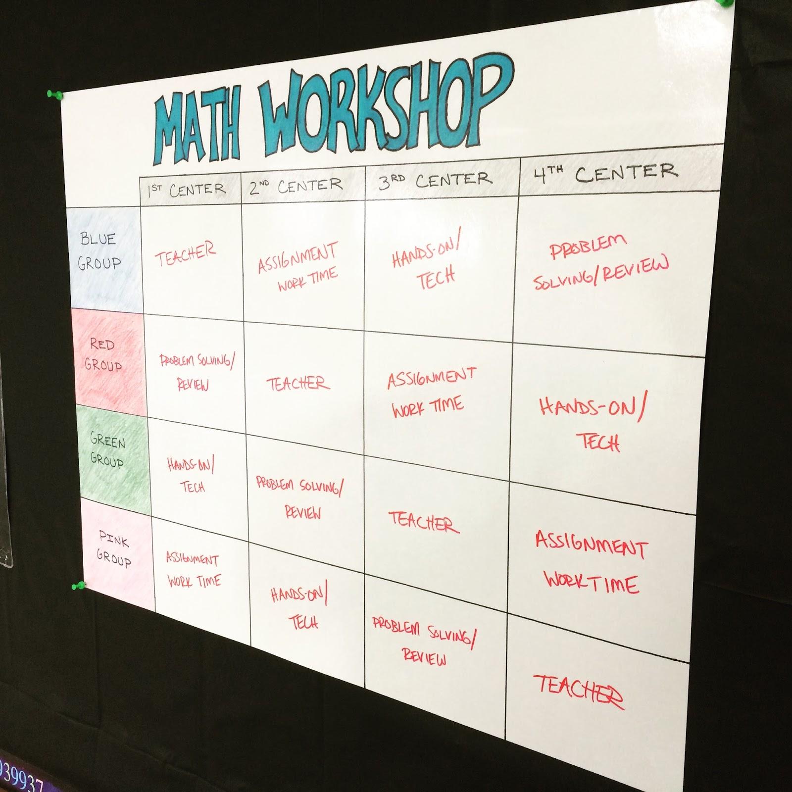 Middle School Math Man: Workshop